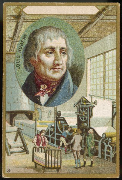 NICOLAS-LOUIS ROBERT French inventor of paper-making process