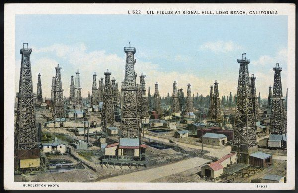 OIL / LONG BEACH. Wells at Signal Hill, Long Beach, California