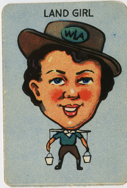 Old Maid card - Land Girl
