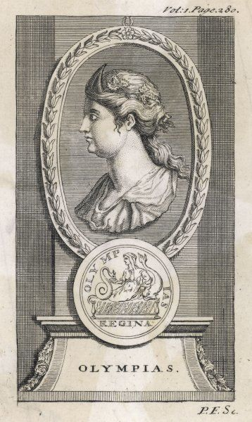 OLYMPIAS, wife of Philippos II, king of the Macedonians (ruled 359- 336)