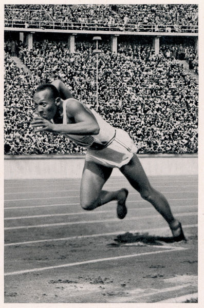 JESSE OWENS Jesse Owens breaks the 200 metre record
