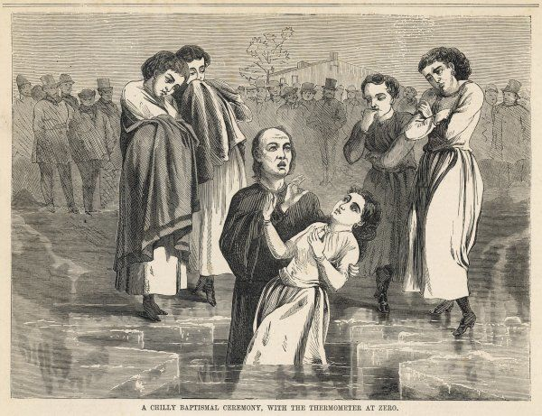In the western USA, Baptists baptise their converts at sub-zero temperatures in the open air, trusting to their faith to keep them warm