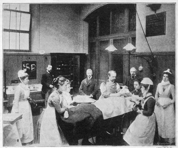 The operating theatre at the Royal Free Hospital, London, during an operation