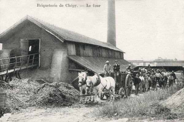 The Oven or Kiln, Chepy Brickworks (Briqueterie) - Marne department in north-eastern France. Date: circa 1907