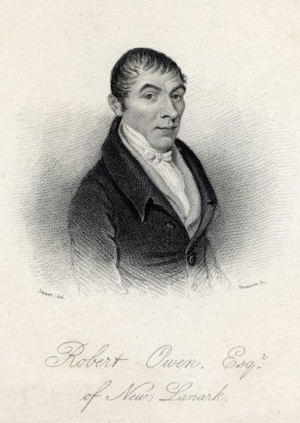 OWEN (1771-1858). ROBERT OWEN Industrialist and idealist