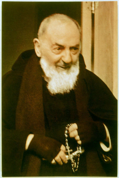 Francesco Forgione, name in religion Pio de Pietrelcina, known as 'PADRE PIO', Capucin friar who manifested stigmata and many other paranormal phenomena