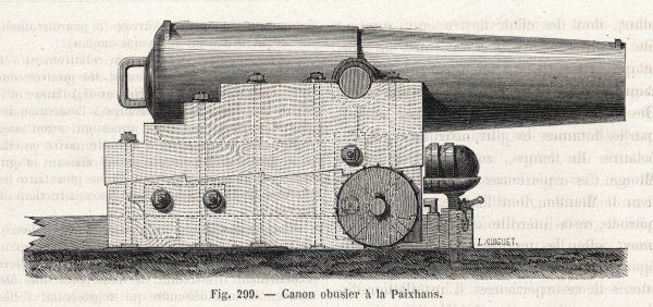 PAIXHANS CANNON. The shell-firing cannon of H J PAIXHANS