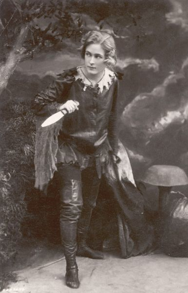 Pauline Chase in the stage version of Peter Pan. Chase was J. M. Barrie's favourite actress for playing the part of the 'lovable tomboy'