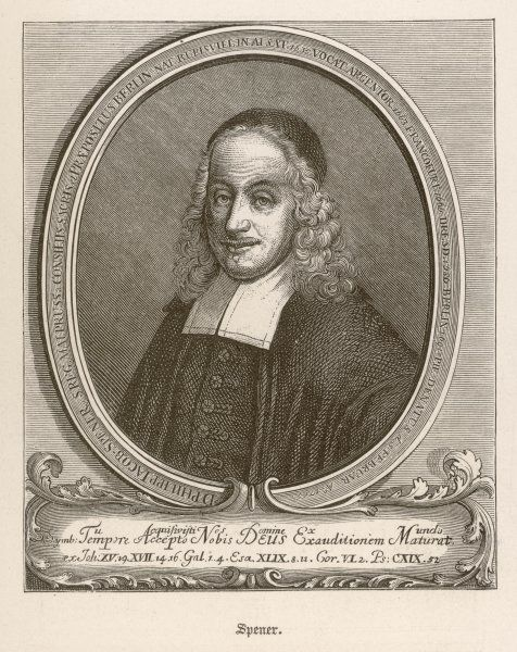 PHILIPP JACOB SPENER German theologian and leader of Lutherian Pietism