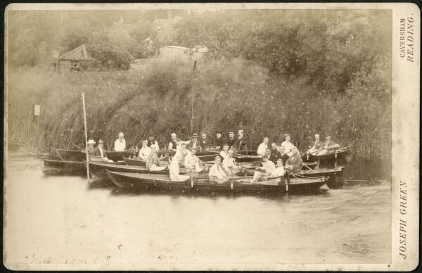 Photograph by Joseph Green, Bridge Street, Caversham, Reading showing a group of jolly