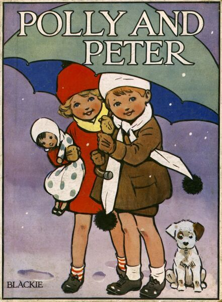 Polly and Peter - children in the snow by Harold Earnshaw