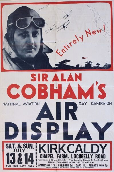 Poster, Sir Alan Cobham's National Aviation Day Campaign