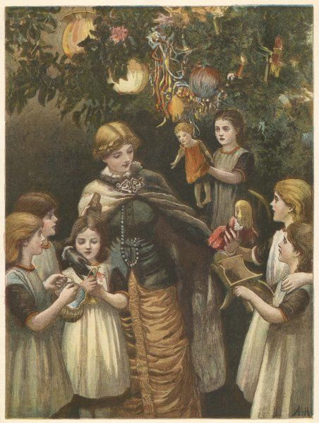 Handing out presents from the tree at the Foundling Hospital, Guildford Street, London