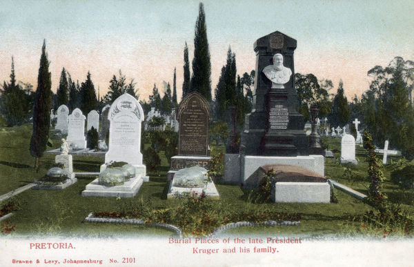 Pretoria, South Africa - The Burial site of President Kruger and his family. Date: circa 1906