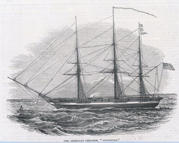 American propeller-driven steam frigate