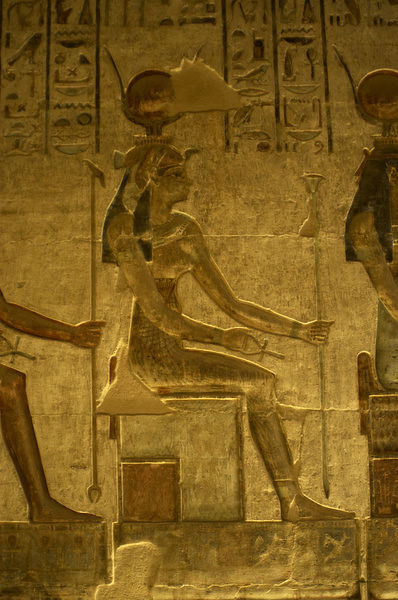 Ptolemaic temple of Hathor and Maat. Hathor. Seated figure