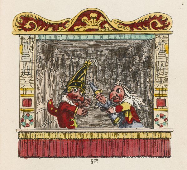 PUNCH, JUDY, BABY. Punch, Judy and the baby