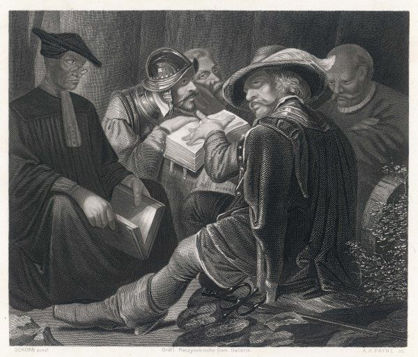 Puritan soldiers in camp during the English Civil War