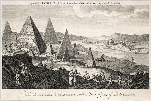Pyramids on the banks of the Nile