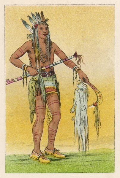 A Chippewa warrior (standing)