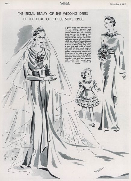 The Regal Beauty Of The Wedding Dress Of The Duke Of Glouces Lady