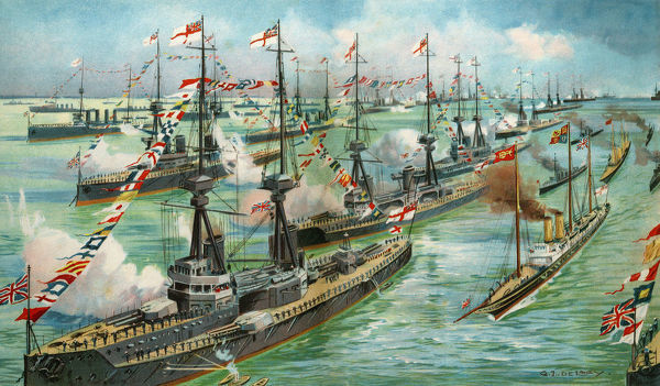 A Royal Naval Review. Date: circa 1910s