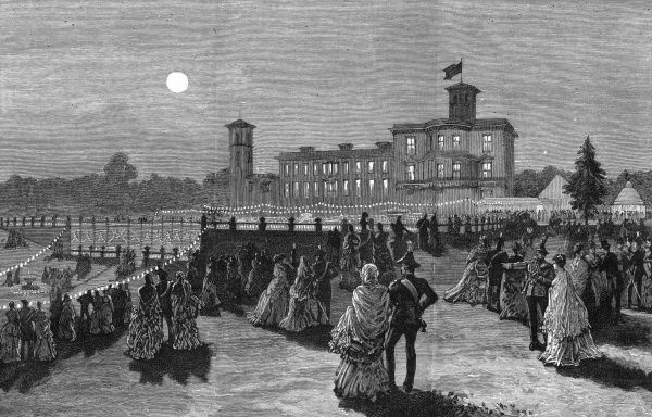 Scene In The Grounds Of Osborne House On Wedding Night Princess Beatrice Youngest