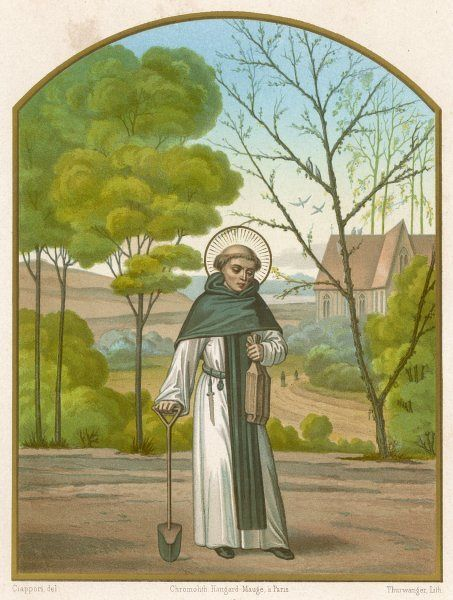 SAINT FIACRE Irish hermit in France, who built the abbey of Breuil and is the patron saint of gardeners