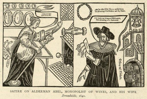 SATIRE ON PURITAN. A satire on Alderman Abel, 'Monopolist of wines', and his wife