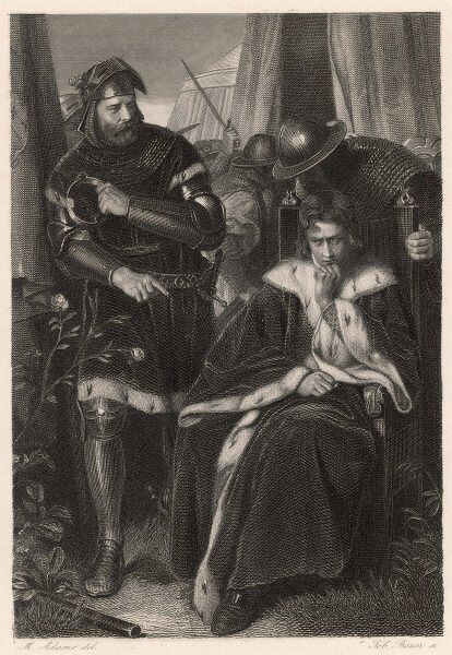 Scene from Shakespeare's history play, Henry VI Part III, in which the king laments the senselessness of the Wars of the Roses