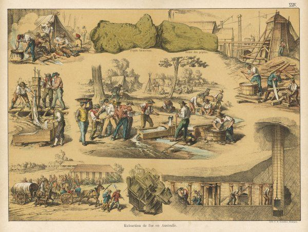 Scenes from the Australian gold rush