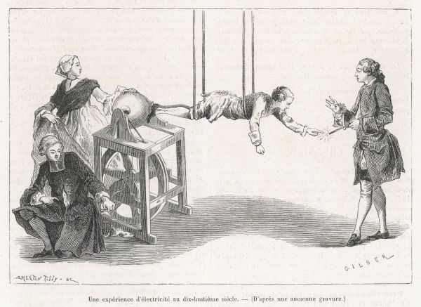 The electrical experiments of Jean-Antoine NOLLET, abbe and professor physics at Paris ; demonstrating how electricity is conducted by the human body