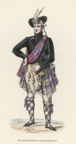 Man in Scottish national dress
