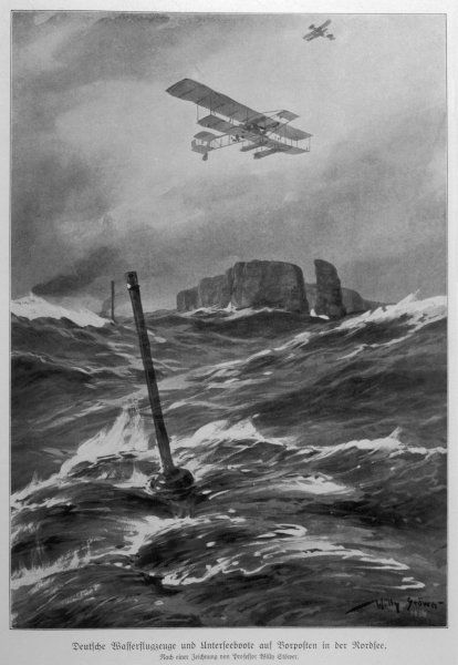 SEAPLANES & U-BOATS. German seaplanes and U-boats in the North Sea
