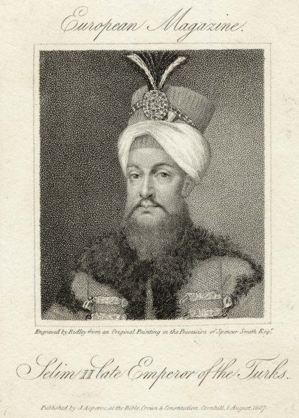 SELIM III SULTAN OF TURKEY [note that the printed caption is erroneous]