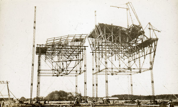 Airship Sheds under erection. William Francis Forbes-Sempill, 19th Lord Sempill AFC, AFRAeS (1893-1965) was a Scottish peer and record-breaking air pioneer who was later shown to have passed secret information to the Imperial Japanese military before the Second World War