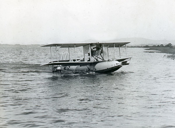 Supermarine Channel Mk.II taxying on lake