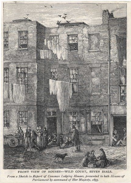 Wild Court, in the Seven Dials district of London, notorious as one of the most dangerous slums in London