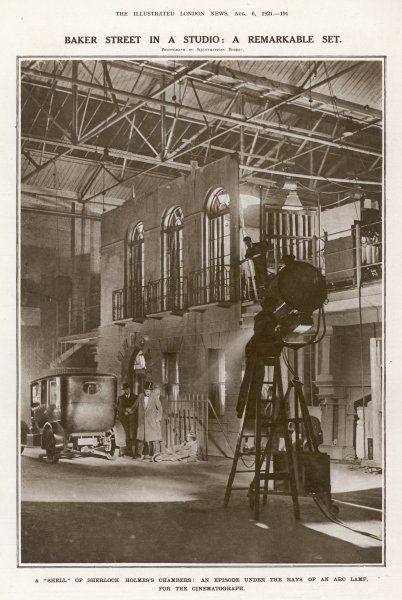 'Sherlock Holmes' is filmed by Stoll at Cricklewood ; Baker Street is reconstructed for the purpose