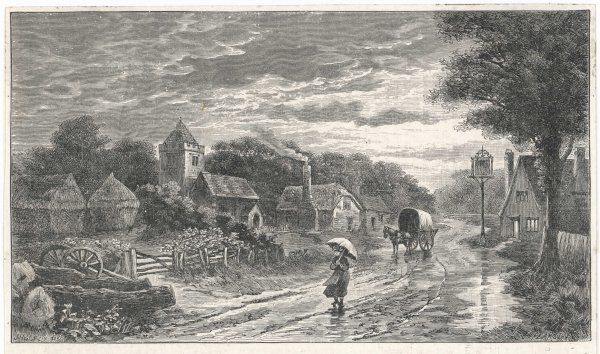 'Evening in Essex' A village street