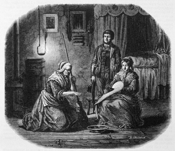 'La sorciere des Vosges' - the 'wise woman' of a French village uses her powers to discover who has cast a spell on her client