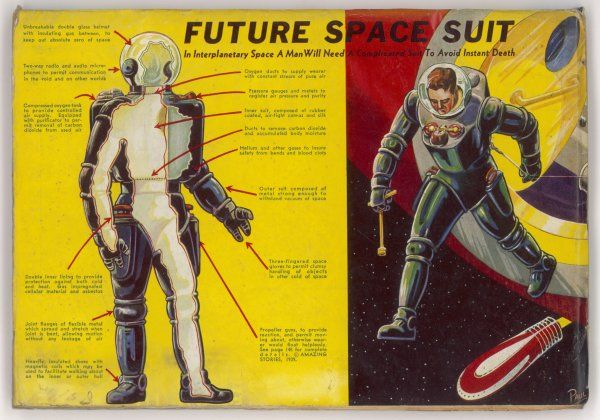 SPACE SUIT FORESEEN. Space suit as foreseen in 1939