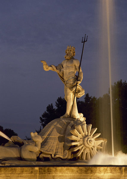 Spain. Madrid. The Neptune Fountain