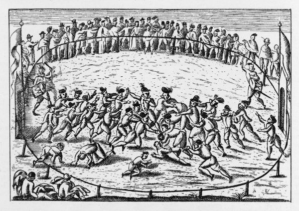 Football played in Italy during the 16th Century