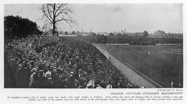 A scene showing a section of the crowd at Craven Cottage, the home of Fulham