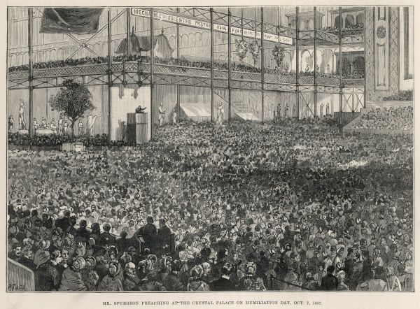 Spurgeon preaching at Crystal Palace