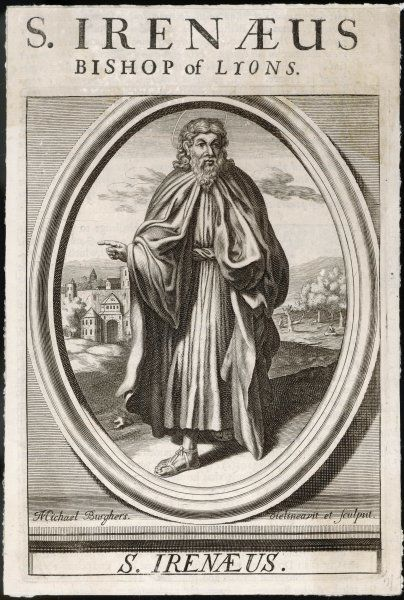 SAINT IRENAEUS Greek prelate; Bishop of Lugdunum (modern Lyons); known for his writings against gnosticism