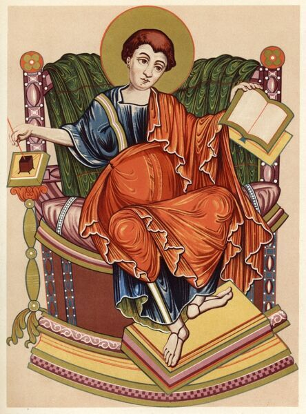 SAINT LUKE Greek physician of Antioch, alleged author of the 3rd gospel and chronicler of the Apostles