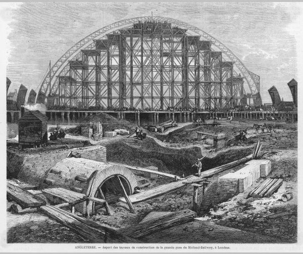 St Pancras is Built. The magnificent canopy of the new Midland Railway