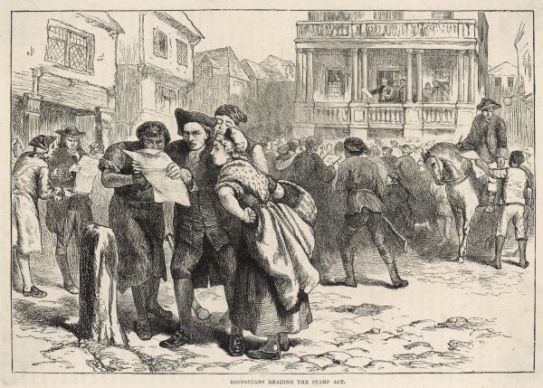 Stamp Act in Boston during American Independence